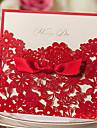 Șal & Buzunar Invitatii de nunta 20 - Invitații Stil Clasic Hârtie Reliefată