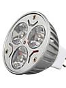 3W GU5.3(MR16) Spoturi LED MR16 3 led-uri LED Putere Mare Decorativ Alb Cald Alb Rece 250-300lm 3000/6500K DC 12V