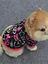Hund Tröja Hundkläder Ledigt/vardag Geometrisk Svart Purpur Fuchsia Kostym För husdjur