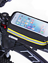 Sac de cadre de velo Sac de telephone portable 4.8-5.7 pouce Bande reflechissante Pare-vent Respirabilite Ecran tactile Cyclisme pour