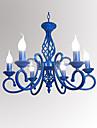 Chic & Moderne Bougie Lustre Lumiere d'ambiance - Style Bougie, 110-120V / 220-240V 6 ampoules Ampoule non incluse / 10-15㎡ / E12 / E14