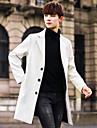 Bărbați Rever Peaked Palton Casul/Zilnic Simplu,Mată Manșon Lung Iarnă-Lung Altele