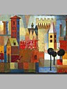 Pictat manual Abstract Orizontal, Artistic Stil Clasic klasické Cool European Birou / Afacere Modern/Contemporan Anul Nou Crăciun pânză