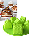 Cake Moulds Jul Hus 3D Vardagsanvändning Tårta för bröd För köksredskap Bröd Silikon GDS (Gör det själv) Thanksgiving alla hjärtans dag