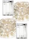 7m Fâșii de Iluminat 100 LED-uri Alb Cald / RGB / Alb Rezistent la apă Baterie / IP65