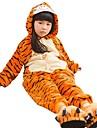 Kigurumi Pijama Tigru Costume Onesie Pijama Flanel anyaga Cosplay Pentru Copil Sleepwear Pentru Animale Crăciun Festival / Sărbătoare