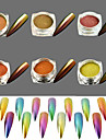 6pcs/set Glitter Powder Powder Elegant & Luxurious Mirror Effect Sparkle & Shine Nail Art Design