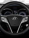 Kormányvédők Bőr 38 cm Medence / Fehér / Rubin Kompatibilitás Hyundai IX35 Minden évjárat