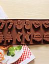 Cookie Tools Jul 3D Vardagsanvändning Tårta Kaka För köksredskap Kakor Silikon Bakning Verktyg 3D Kreativ Köksredskap Jul Födelsedag Nyår