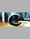 Hang målad oljemålning HANDMÅLAD - Abstrakt Abstrakt Duk