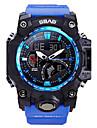 Bărbați Quartz Ceas de Mână Ceas Sport Calendar Rezistent la Apă Cronometru Zone Duale de Timp  LCD PU Bandă Casual Modă Cool Albastru