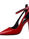 Pentru femei Pantofi PU Primăvară / Toamnă Balerini Basic Tocuri Negru / Gri / Rosu
