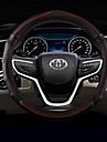 Rattöverdrag till bilen Läder 38cm Svart / Grön / Svart / Röd / Blåsvart For Toyota RAV4 / Highlander / Corolla Alla år
