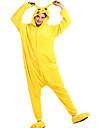 Pijama Kigurumi Pika Pika Pijama Întreagă Costume Flanel Lână Galben Cosplay Pentru Adulți Sleepwear Pentru Animale Desen animat Halloween