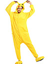 Kigurumi-pyjamas pika pika Onesie-pyjamas Kostym Flanell Gul Cosplay För Pyjamas med djur Tecknad serie halloween Festival / högtid