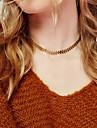Pentru femei Coliere Choker Bijuterii Leaf Shape Aliaj La modă Personalizat Euramerican Auriu Argintiu Bijuterii PentruPetrecere Ocazie