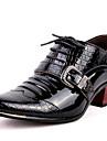 Bărbați Pantofi Piele Originală Iarnă Toamnă Pantofi formale Oxfords pentru Casual Party & Seară Negru Albastru
