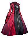 Lolita Stil Gotic Medieval Gotic Costume Pentru femei O piesă Rochii Costume petrecere Mascaradă Roșu Vintage Cosplay Satin simplu Manșon