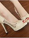 Femme Chaussures Cuir Printemps / Automne Escarpin Basique Chaussures a Talons Talon Aiguille Noir / Beige