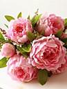 1 ramură Mătase Bujori Față de masă flori Flori artificiale