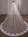 Un nivel Voal de Nuntă Voaluri de Catedrală Cu Aplică Dantelă Tulle