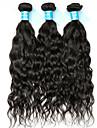Indiskt hår Obehandlat Vattenvågor Hårförlängning av äkta hår 3 delar Human Hår vävar