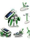 6 IN 1 Robotar Soldrivna leksaker Leksaker Flygplan Väderkvarn Skepp Robotar Soldriven GDS (Gör det själv) Utbilding Barn 1 Bitar
