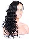 Obehandlad hår Spetsfront Peruk Brasilianskt hår Vågigt 130% 150% 180% Densitet Med Babyhår obearbetade Till färgade kvinnor Naturlig