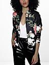 Pentru femei Stand Jachetă Chinoiserie - Geometric / Toamnă / Modele florale