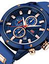 Bărbați Ceas de Mână Ceas La Modă Ceas Sport Japoneză Quartz Calendar Iluminat Cronometru Silicon Bandă Lux Casual Cool Negru Albastru