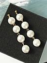 Pentru femei Obsidian Cercei Picătură - Perle Bijuterii Auriu / Argintiu Pentru Nuntă Dată