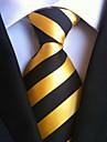 Bărbați Cu Dungi Toate Sezoanele Dungi Cravată Galben