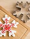 Crăciun fulg de zăpadă tăietor tăiat din oțel inoxidabil biscuiți tort mucegai fondant instrumente de copt