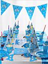 Accesorii de partid Zi de Naștere Bebeluș nou Pălării/Căciuli Set de Masă Ustensile de Bucătărie Ornamente Temă Plajă Marin Temă Basme