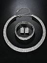 Pentru femei Set bijuterii - De Bază, Elegant Include Argintiu Pentru Nuntă Zilnic
