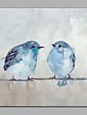 HANDMÅLAD Djur Fyrkantig, Modern Stil Duk Hang målad oljemålning Hem-dekoration En panel