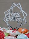 Vârfuri de Tort Zi de Naștere Acrilic Euramerican Zi de Naștere cu 1 OPP