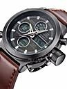 Bărbați Ceas Casual Ceas La Modă Ceas de Mână Japoneză Quartz Calendar Ceas Casual Piele Bandă Casual Elegant Maro
