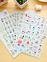 6 st / set barn dagbok klistermärke klistermärke klistermärke klistermärke