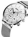 Bărbați Ceas La Modă Ceas Casual Quartz Calendar Cronometru Oțel inoxidabil Bandă Lux Casual Cool Negru Argint