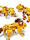 Lego Jucarii Triceratops Dinosaur Tigru Animale 3 în 1 Educație 328 Bucăți