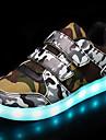 Băieți Pantofi Plasă de Aerisire / Imitație de Piele Toamnă / Iarnă Confortabili / Tălpi cu Lumini / Pantofi Usori Adidași Bandă Magică / LED pentru Alb / Negru / Verde Militar