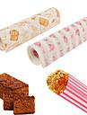 50 buc / set de hârtie de ambalare hârtie impermeabilă ceară de hârtie tort cookie macaron grăsime de copt de culoare aleatoare