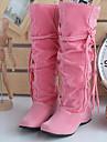 Femme Chaussures Cuir Nubuck Automne Hiver Bottes a la Mode Confort Bottes pour Noir Beige Rose Brun Fonce