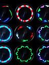 Cykellyktor hjul lampor LED - Cykelsport Vattentät Liten storlek Enkel att bära Trådlös Färgskiftande LED ljus AAA 20 Lumen Batteri