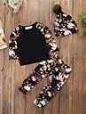 Bebelus Pentru copii Set Îmbrăcăminte Floral Tipar Bumbac Acrilic Zilnic Casual Primăvara/toamnă Primăvară, toamnă, iarnă, vară Manșon