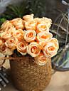 Flori artificiale 1 ramură European Trandafiri Față de masă flori