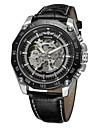 WINNER Bărbați Ceas de Mână Ceas Elegant  Ceas La Modă Mecanism automat Gravură scobită Piele Bandă Vintage Casual Cool Negru Maro