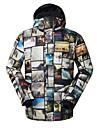 GSOU SNOW Homme Veste de Ski Etanche Coupe Vent Chaud Ski Ecologique Polyester Tissu de soie doudoune / Anorak en Duvet Tenue de Ski / Hiver