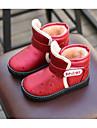 Fete Pantofi Imitație de Piele Toamnă Iarnă Confortabili Cizme de Zăpadă Cizme Pentru Casual Maro Rosu Albastru